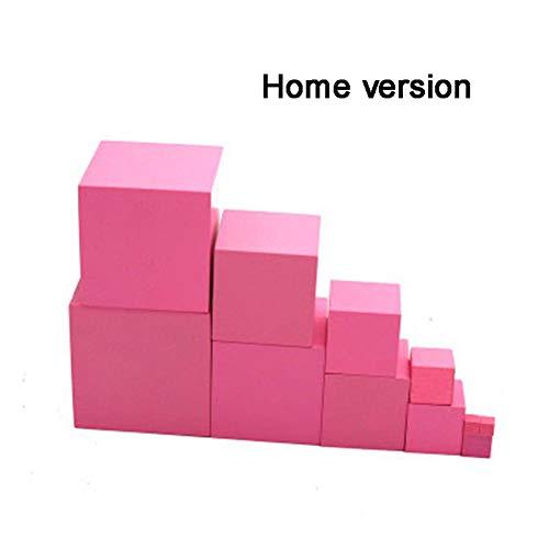 ACHICOO Kinder Montessori Holz Rosa Blöcke Turm Gebäude Spielzeug Smart Puzzle Holz Form Stapeln Spielzeug Mathematik Frühe Pädagogische Spielzeug Home Edition Gag-Geschenke für Kinder