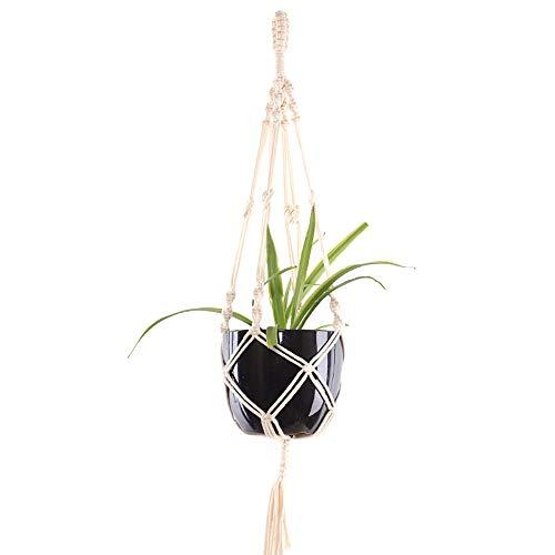 YANGMAN Plante Cintre, Support en Pot de Plante en macramé Coton Corde Suspendue Panier planteur décoration de la Maison pour intérieur extérieur Balcon Fournitures de Plafond, Long 100 cm,1pcs
