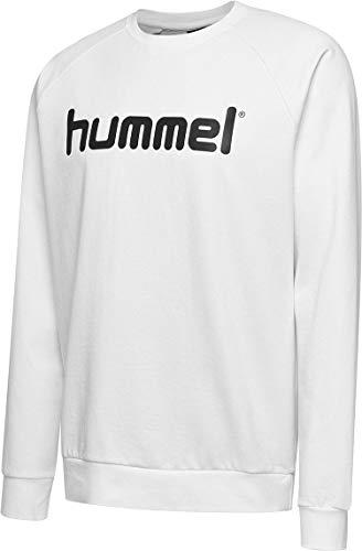 hummel Felpa da Uomo con Logo HMLGO, Uomo, Felpa, 203515-9001-S, Bianco, S