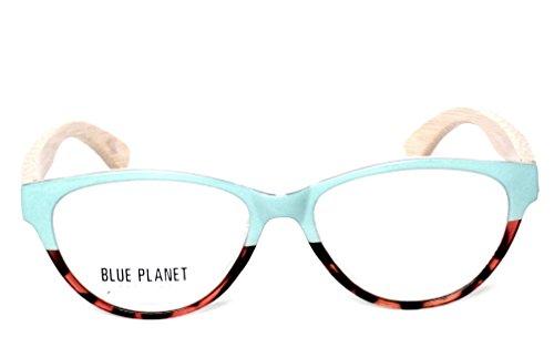 BLUE PLANET Reading Glasses Eco Friendly Women Sustainable Bamboo Ladies Designer Eyeglasses 1.50 Turquoise Tortoise