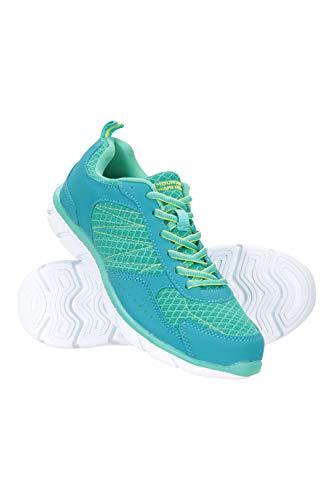 Mountain Warehouse Cruise Zapatos Corrientes de Las Mujeres de la travesía - Zapatos durables del Verano, Zapatos de Las señoras de Breathable, Acoplamiento Verde Agua Talla Zapatos Mujer 40 EU