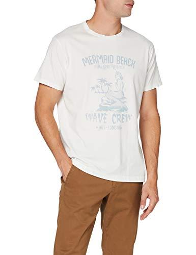 Hackett London Hkt Mermaid Camiseta, Blanco (White 800), Medium (Talla del Fabricante:...