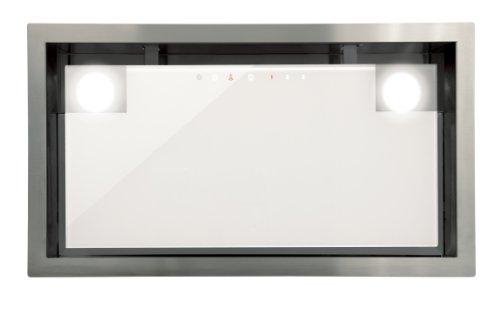 CATA GC DUAL WH 45 - Campana extractora integrada (820 kub.m / h, control táctil de 3 niveles, 2 motores, extracción perimetral), Blanco
