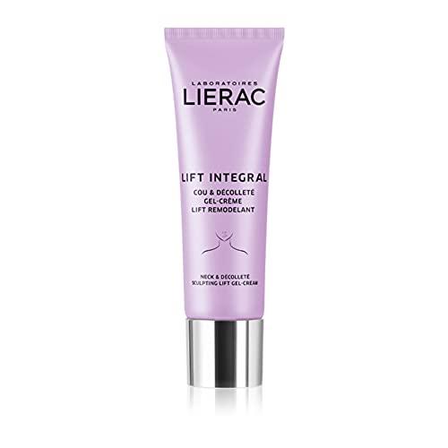 Lierac Lift Integral Gel Crema Collo e Décolleté Antirughe con Acido Ialuronico, per Tutti i Tipi di Pelle, Formato da 50 ml