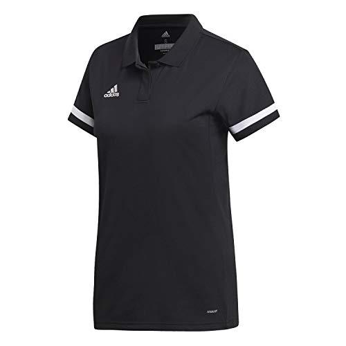 adidas Womens T19 W Polo Shirt, Black/White, Large