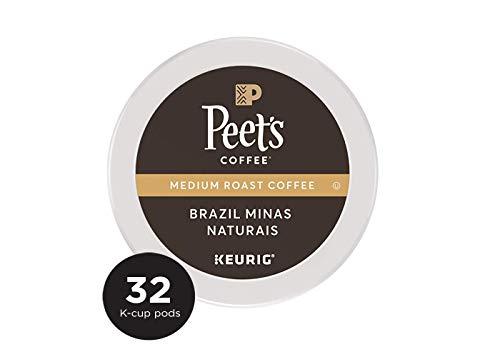 Peet's Coffee Single Origin Brazil, Medium Roast, 32 Count Single Serve K-Cup Coffee Pods for Keurig Coffee Maker