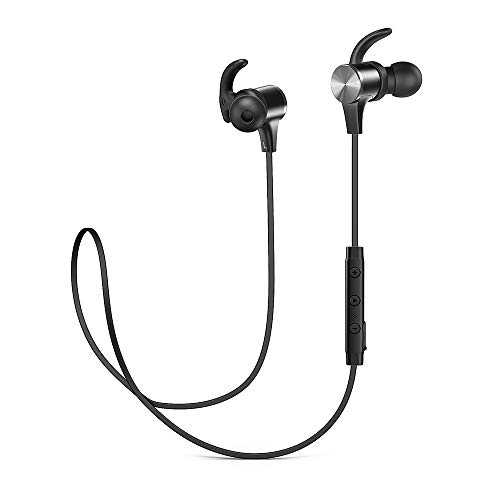 Bluetooth Headphones, Wireless Headphones TaoTronics IPX7 Waterproof Bluetooth 5.0 Sports Earbuds with 15Hrs Playtime aptX Stereo Built in cVc 8.0 Noise Cancelling Mic for Running Gym Travelling