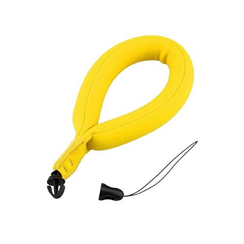 Flotador de la cámara, correa de muñeca flotante de la burbuja electrónica amarilla del producto para la natación subacuática que rafting