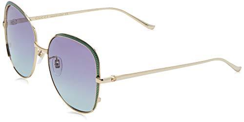 GUCCI GG0400S-004 zonnebril, goud/groen, 58 voor dames