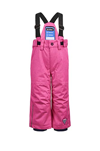 Killtec Kinder Jordiny Mini Funktionshose Mit Trägern Und Schneefang, neon pink, 122/128