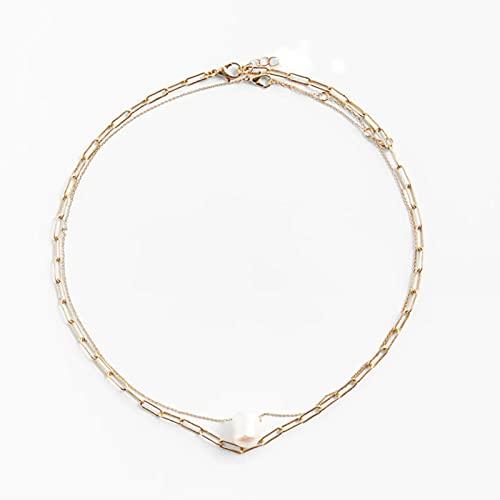 DOOLY El más Nuevo Collar de cordón con Cuentas ZA para Mujer, Collar de Piedra Natural Tejido Colorido Bohemio, joyería de Vacaciones de Verano, Regalos de Fiesta