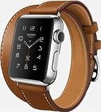 APPLE(アップル) Apple Watch Hermes ドゥブルトゥール ステンレス ヴォー・バレニア(フォーヴ) レザーストラップ