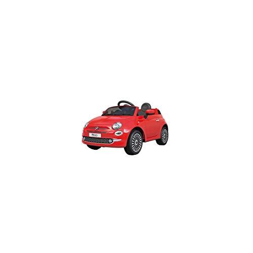 Motoor Kids Coche eléctrico para niños Fiat 500 con Mando Radio Control y batería 6V (Rojo, Blanco y Rosa) - Juguetoon (Rojo)