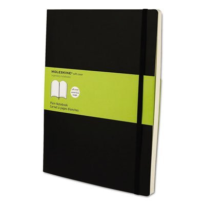 Classic cuaderno de tapa blanda, Plain, 10x 71/2, Negro,, 192hojas