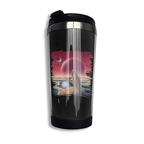 tenghanhao Tazza da caffè The Claypool Lennon Delirium South of Reality Coffee Cups Stainless Steel Water Bottle Cup Travel Mug Coffee Tumbler with Spill Proof Lid Graphic Travel Mug 400ml/14 oz
