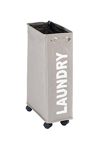 WENKO Wäschesammler Corno - Wäschekorb Fassungsvermögen: 43 l, 18,5 x 60 x 40 cm, taupe