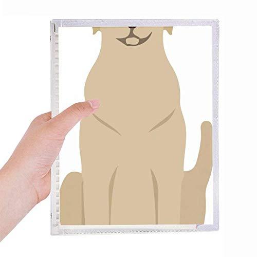 Caderno protetor animal para amantes de animais de estimação escravo folhas soltas diário recarregável papelaria