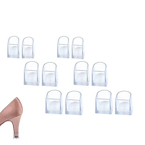 6 Pares Protector de Tacón Alto, Protectores Tacones Transparentes Protector de Tacón Alto Salvatacones para Tacones, 3 Tamaños para Razas, Bodas, Ocasiones formales - Transparente