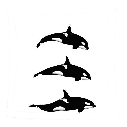 WSSHUIYI Mantas de Franela Bedclothes Tres Delfines Manta de Bebé Unisex Suave y Cómoda Siesta 3D Microfibra Todas Temporada Cálido Sofás Mantas para Cama Edredón de Retazos-XL(180X240CM)