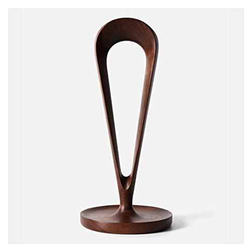 hongbanlemp Soporte creativo para auriculares hecho a mano de madera para exhibición de juegos, soporte de exhibición para auriculares de escritorio (color: B)