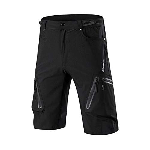 N+A d.Stil MTB Hose Herren Fahrradhose Schnelltrocknende Mountainbike Shorts Sommer Outdoor Sport Kurze Fahrradhose (schwarz, XL)