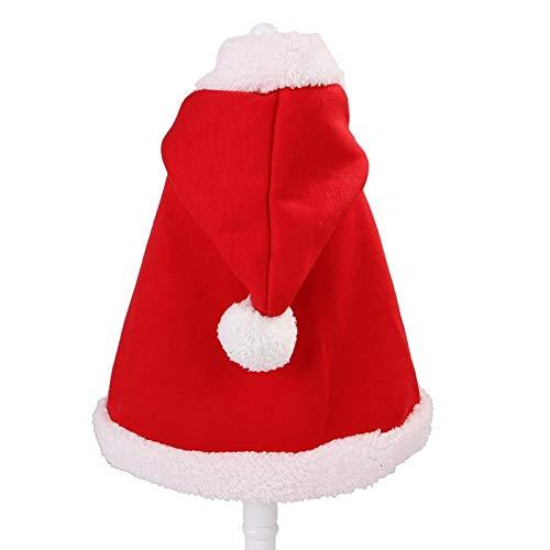 Kerst huisdier hond kat kostuums rode mantel jassen voor honden katten winter warme hond kleding Chihuahua Pug kleding Red S