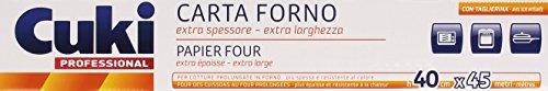 Cuki - Carta Forno 40 Cm X 45 M, Extra Spessore, Extra Larghezza