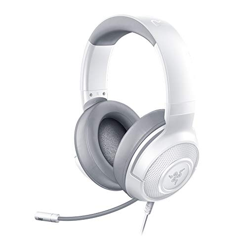 Razer Kraken X Mercury - Gaming Headset (Ultra leichte Gaming Headphones für PC, Mac, Xbox One, PS4 und Switch, Kopfband-Polsterung, 7.1 Surround Sound) weiß