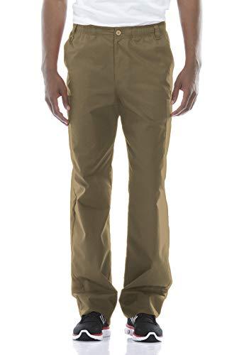 Dickies Men's Big Signature Elastic Waist Scrubs Pant, Dark Khaki, Large Tall