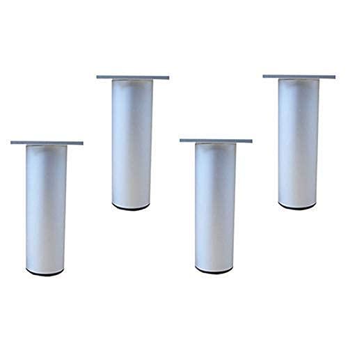 WYBW Patas de soporte para muebles, Patas de aluminio para muebles/Patas de sofá ajustables/Patas de gabinete de bricolaje / (4 piezas) Tamaño completo/Para gabinetes de baño, Mesas de café, Ar