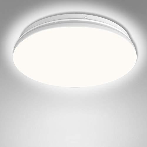 Deckenlampe LED Kaltweiss, 20W Deckenleuchte Wasserdicht, Lampe Decke Moderne Runde Dünne Ø24CM für Badezimmer, Küche, Wohnzimmer, Schlafzimmer, Balkon, Flur