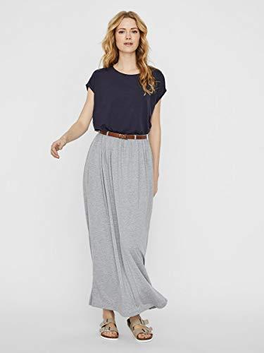 Vero Moda Vmlinn Belt Ankle Skirt Noos Falda, Melange Gris Claro, M para Mujer