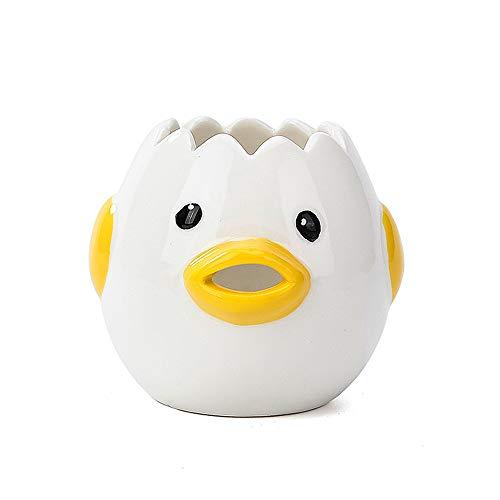 Egg Separator, Ceramic Egg Yolk Egg White Separator, Portable Kitchen Gadgets Baking Tool Egg White