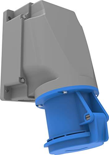 Bemis 90° Cee Wandsteckdose 3x63A. (2P+E) 220V. 50/60 Hz. 6h IP44 - Blau