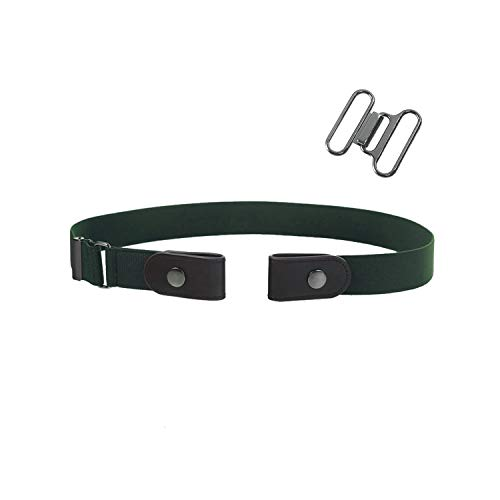 Awertaweyt Hüftgurt, Unisex Buckle-Free Elastic Belt For Jeans Pants Dress Free Stretch Waist Belt For Women Men No Buckle Adjustable Belt Army Green length 50-80cm