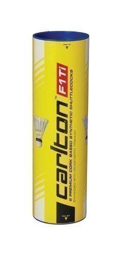 Carlton F1 Ti Synthetic Federbälle Langlebige Badminton Bälle 6 Stück Neu - Geschwindigkeit Mittel, Gelb
