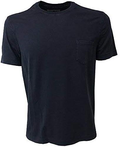 Della Ciana T-Shirt Homme Bleu avec Poche 100% Coton Vestibilité Slim 47692l