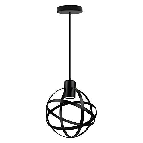 Lampara Colgante del Techo E27 Vintage Hierro Redonda Iluminacion Interior Led...