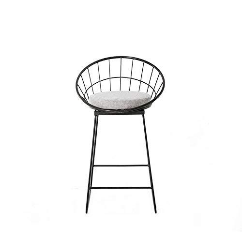 Zplyer Barkruk van hout metaal barkruk antislip comfortabel geschikt voor bars keuken en kantoren metalen draad eenvoudige barkruk zwart minimalistisch 75 * 41 * 41cm
