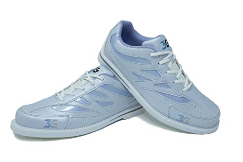 Bowling-Schuhe, 3G Cruze, Damen und Herren, für Rechts- und Linkshänder, 4 Farben, Schuhgröße 36-46 (37, Weiß/Ivory)