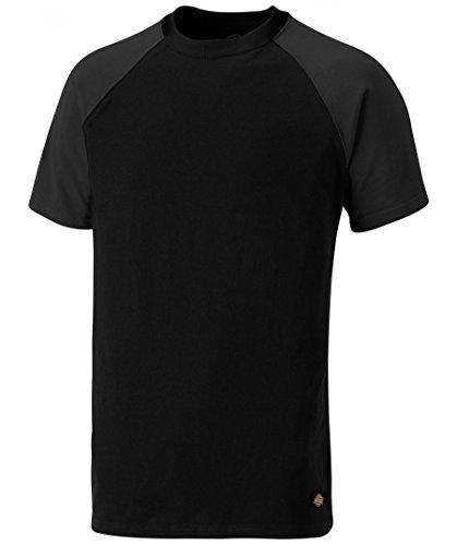 Temp IQ Two-Tone T-Shirt, UV Schutz Zertifiziert, optimaler Feuchtigkeitstransport (Schwarz/Grau,2XL)