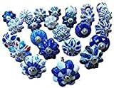Karmakara Set of 25 Blue and White...