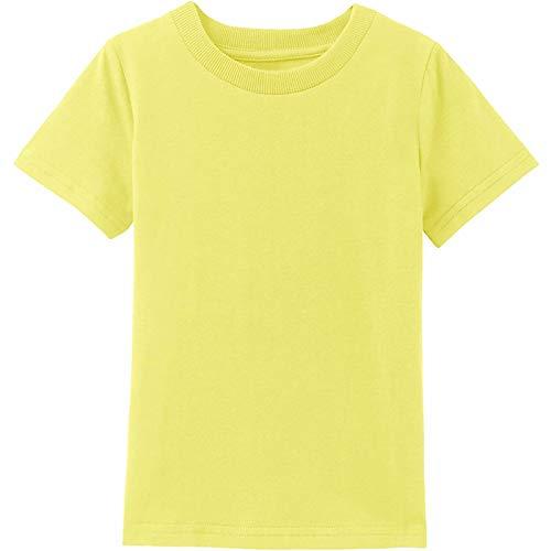 MOMBEBE COSLAND Camisetas Bebé Niños Corta Algodón T-Shirt, 92, Amarillo