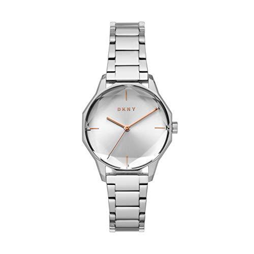 DKNY Women's Round Cityspire Quartz Watch with Stainless Steel Strap, Silver, 16 (Model: NY2793)