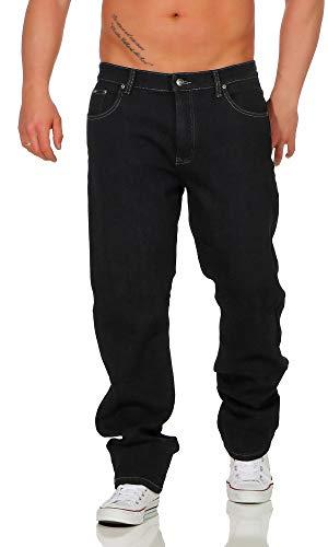 BEZLIT Herren Thermo-Hose Jeans-Hose Stretch Winter-Hosen gefuttert Regular Fit 22893, D 40(Herstellergröße: 46), Schwarz