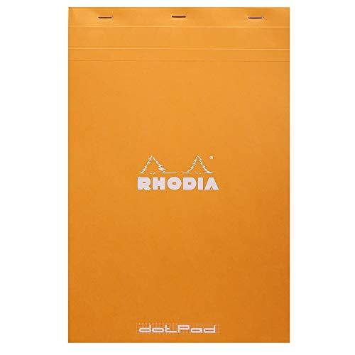 Rhodia Dotpad - Bloc de papel (21 x 32 cm), color naranja