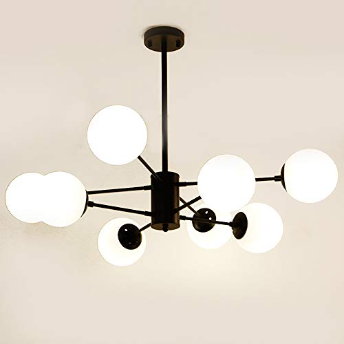 Ncloyn Europe Du Nord Moderne Lampe Suspension, E27 Douille Verre Abat-jour Pour Lustre Suspension Indoor Abat-jour Suspensions Pour Restaurant