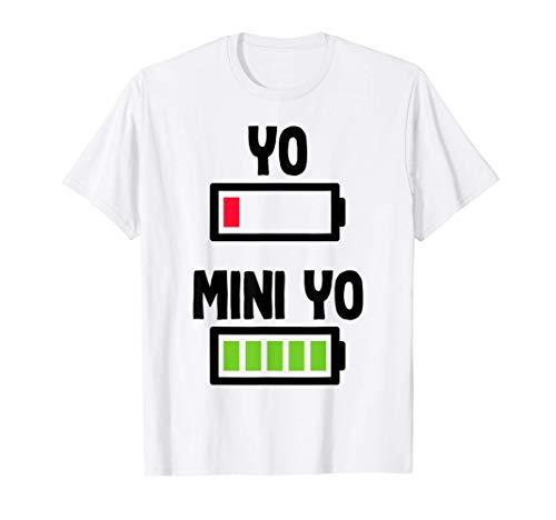 Papa Yo Mini Yo Embarazo Hijos Familia Padre Decir Bebe Camiseta