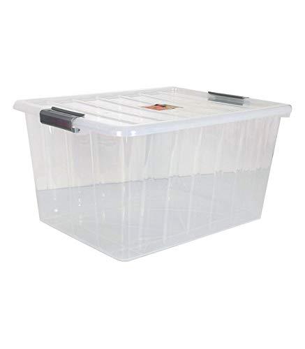 Confortime 104815 Caja de Almacenaje con Tapa, Multicolor, 50 L