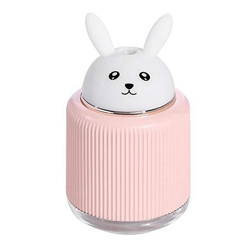Veilleuse Ours Lapin Chat Animal Lampe De Nuit avec Diffuseur LED s'allume Humidificateur d'air USB pour La Maison Bébé Sommeil Lumière Chambre Rose